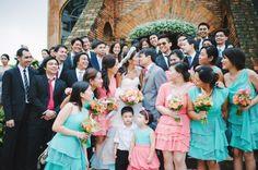 seafoam green and coral Guads & Sega #martandsega Bridesmaid Dresses, Wedding Dresses, Destination Wedding Photographer, Coral, Wedding Photography, Amp, Green, Fashion, Bridesmade Dresses