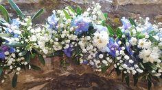 babys breath and blue delphinium for a wild greek wedding in an olive orchard in Naxos Blue Delphinium, Parisian Wedding, Greece Wedding, Babys, Real Weddings, Destination Wedding, Floral Wreath, Greek, Wreaths