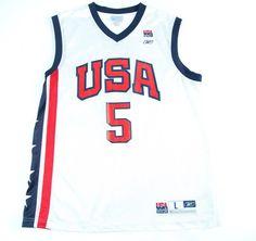 NBA USA NATIONAL TEAM 2000's BASKETBALL SHIRT JERSEY REEBOK #5 JASON KIDD    eBay