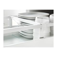 MAXIMERA Divider for medium drawer, white, transparent white/transparent 40 cm