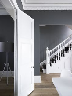 all white stairs with gray, love - Greg Natale | Sydney based architects and interior designers