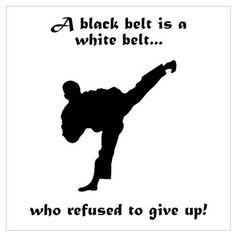 Black Belt Refusal Wall Art Poster