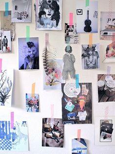 Inspiration wall, washi tapes