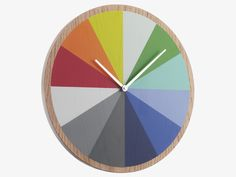 ARRAY MULTI-COLOURED Wood Multi-coloured wooden wall clock - HabitatUK