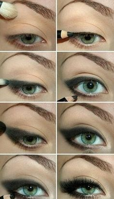 Finally found eye makeup that looks doable! I'm gonna attempt it next time I dress up!