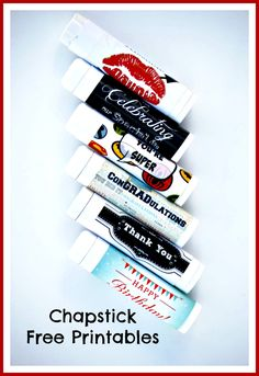 Free Printable Chapstick Labels #ClarksCondensed