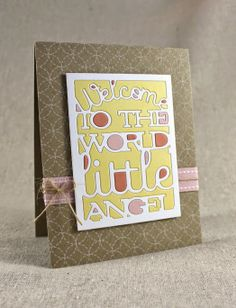 Color-Blocked Baby Card by Lizzie Jones for Papertrey Ink (May 2014)