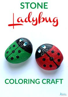 Ladybugs are a favorite for both kids and adults alike and this fun Stone Ladybug Coloring Craft only requires 4 items and is super easy to make. Crafts To Do, Diy Craft Projects, Easy Crafts, Crafts For Kids, Craft Ideas, Toilet Paper Roll Crafts, Paper Crafts, Diy For Teens, Diy For Kids