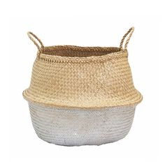 This lovely natural Belly Basket is a favourite, it's handwoven, collapsible, stylish and functional, the perfect storage basket.  This seagrass basket has been