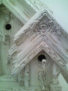 Birdhouses-- What a great way to  use old picture frames-- love it!: