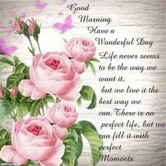 Good morning, friends and followers. I hope your  day is wonderful....and you can fill it with Perfect Moments.  Love, Dorcas