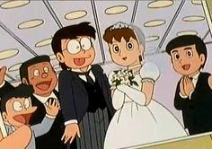 nobita and shizuka wedding episode - Google Search