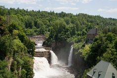 Rainbow Falls at the head of the Chasm. Ausable Chasm, Keeseville, NY | Atlas Obscura