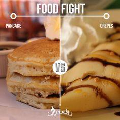 Pancake vs Crepes