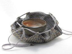 Matcha Tea Bowl with Matching American Shifuku by RockPondPottery Matcha Tea Powder, Tea Trolley, Matcha Bowl, Japanese Tea Ceremony, Mens Silk Ties, Chawan, Tea Caddy, Indigo Dye, Tea Bowls