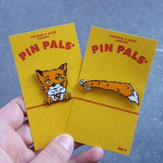 Wes Anderson Fox Tail Enamel Pin, Fox Lapel Pin Set, Fox Gifts, Collectible Pins, Hard Enamel Hat Pins