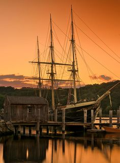 The Joseph Conrad at Mystic Seaport, Mystic, CT -  a beautiful place