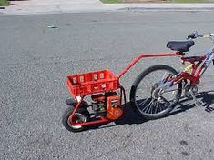Image result for pusher powered bicycle
