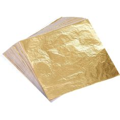 Bememo 100 Sheets Imitation Gold Leaf for Arts, Gilding Crafting, Decoration, by Inches: Home & Kitchen Decor Crafts, Fun Crafts, Arts And Crafts, Gold Foil Paper, Wax Paper, Tissue Paper, Feuille D'or, Gilding Wax, Iron Orchid Designs