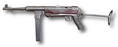 The MP 38 and MP 40 (MP designates Maschinenpistole) were submachine guns developed in Nazi Germany and used extensively by Fallschirmjäger (paratroopers), platoon and squad leaders, and other troops during World War II. Both weapons were often erroneously called the Schmeisser, despite Hugo Schmeisser's non-involvement in their design and production.