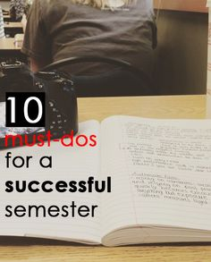 10 must-dos for a successful semester