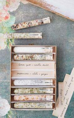 DIY gift - seasoned salt | SaltWorks has artisan, gourmet, flavored, smoked, Epsom, and bath salts all in one place! (www.seasalt.com)