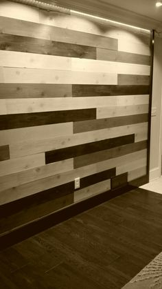 Colored Stained Wooden Wall