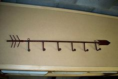 Old Rustic Handmade  IRON ARROW  Display Rack - Might be cool in shop as a display?
