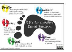 5 P's for a positive Digital Footprint  #aussieed #vicpln #edchatnz