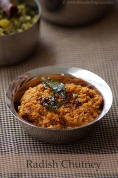 Mullangi Pachadi Recipe - Andhra Style Radish Chutney Recipe - South Indian Chutney Recipes
