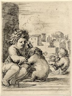 Stefano della Bella, 1662. Teaching a dog to sit.
