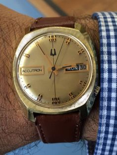 VINTAGE BULOVA ACCUTRON MEN'S WATCH 2182  10k Rolled Gold Back in Jewelry & Watches, Vintage & Antique Jewelry, Fine, Retro, Vintage 1930s-1980s, Other Fine Jewelry 1930s-1980s | eBay