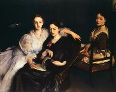John Singer Sargent, The Misses Vickers on ArtStack #john-singer-sargent #art