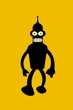 Futurama - Bender iphone wallpaper