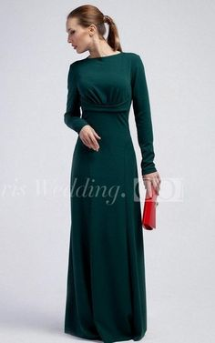 $163.80-Bateau Long Sleeve Sheath Jersey Long Green Mother of the Brides Dress With Ruching. http://www.doriswedding.com/bateau-long-sleeve-sheath-jersey-floor-length-dress-with-ruching-pET_329248.html.  Explore our best wedding dresses & gowns, mother of the groom dress collection Doris Wedding 2016 dress style collection. Free custom made service of any dress design & Free Shipping! #motherofthebrides #motherofthegroom #DorisWedding.com