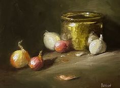 """Lori Barrison on Instagram: """"This weekend's effort; based on a lesson in Vital Art Sessions with Kelli Folsom. Oil on 8x10"""" linen panel. #stilllifeoilpainting…"""" Still Life Oil Painting, Effort, Candle Holders, Candles, Base, Photo And Video, Vegetables, Instagram, Porta Velas"""