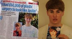 This guy looks more like Butthead from Beavis and Butthead than Justin Beiber!