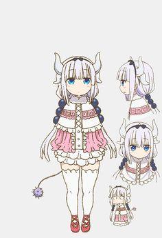 Kanna Kamui - Kobayashi-san Chi no Maid Dragon - Mobile Wallpaper - Zerochan Anime Image Board Anime Chibi, Lolis Anime, Anime Art, Miss Kobayashi's Dragon Maid, Dragon Girl, Loli Kawaii, Kawaii Anime, Character Sheet, Character Concept