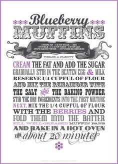 Amazing typography recipe!