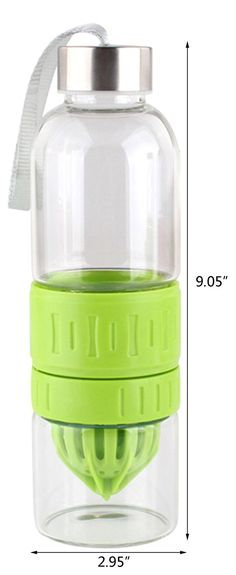 Amazon.com : Bestwoohome Glass Fruit Infuser Juicer Bottle Juice Maker Drink…