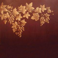 Stencils | Grape Clusters Fruit Stencil | Royal Design Studio