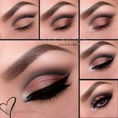 Eye Makeup Tips.Smokey Eye Makeup Tips - For a Catchy and Impressive Look Makeup Goals, Makeup Inspo, Makeup Tips, Beauty Makeup, Makeup Lessons, Beauty Tips, Flawless Makeup, Skin Makeup, Khol Eyeliner