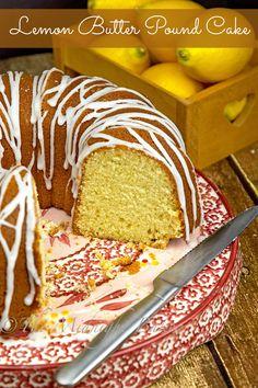 Delicately flavored lemon pound cake recipe