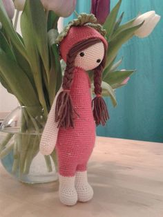 ERNA the strawberry made by Tina G. / crochet pattern by lalylala