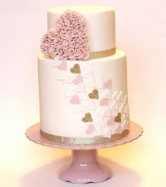 ruffle heart wedding cake | Flickr - Photo Sharing!