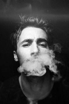 Black and white, smoke