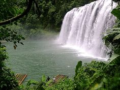 Tinuyan Falls: The Philippine's version of the Niagra falls. It is located in Bislig, Surigao del Sur