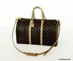 Dollhouse Miniatures (L2) LV Travel Luggage bags 1/12 handmade Bag. $69.00, via Etsy.