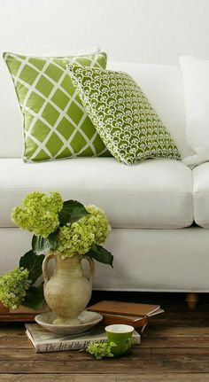 Hydrangea Colors, Green Hydrangea, Hydrangeas, White Cottage, Rose Cottage, Green And Brown, Pink And Green, Fresh Green, Olive Green