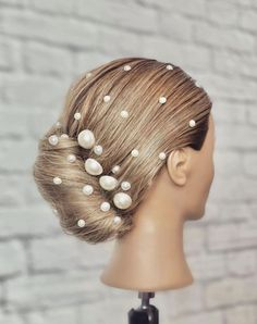 #HairAccessories are a great way to transition #styles without reworking them! Have a #bride that wants a different look for their ceremony and reception? Opt to #accessorize! #SamVilla #SamVillaHair Bridal Hair Inspiration, Holiday Hairstyles, Bobby Pins, Your Hair, Wedding Day, Hair Color, Hair Accessories, Bride, Pearls